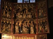 The Wiener Neustädter Altar is composed of two triptychs that depict the life of Mary.
