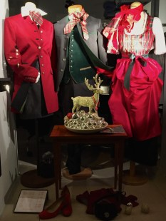 Festive and pricey traditional tracht (the national costume.)