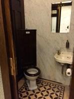 Each stall has it's own quaint sink.