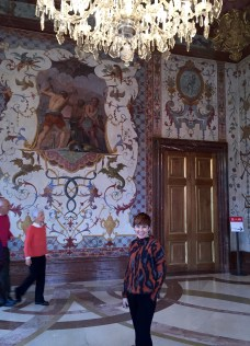 The Hall of Grotesques (note the serpentine figures done in true Pompeian style) in the Lower Belvedere Palace.