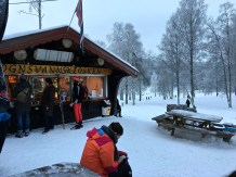 The Sognsvann ski hut offers everything you need to refuel after playing in the snow.