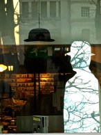 My own little attempt at surrealism using the products in the museum store window.