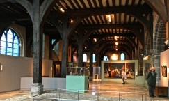 Today, the interior of the Museum looks much the same, minus the beds.