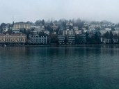 """Lake Luzern is the fourth largest lake in Switzerland, having four arms and multiple bends. In other words, it's got lots of shoreline for resorts. The Swiss call it the Vierwaldstättersee, literally """"Lake of the Four Forested Settlements"""" because it straddles four cantons (""""counties"""")."""
