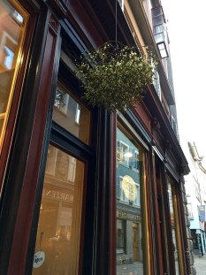 We typically associate mistletoe with Christmas and kissing customs. But in Germanic countries, a branch of mistletoe hung over the door is an old pagan tradition. It's said to ward off evil spirits and keep witches from entering your home during the long, dark nights preceding the solstice.