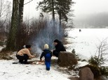 It's just not Sunday if you don't don your snowsuit, build a campfire, and roast hotdogs in the frigid outdoors.