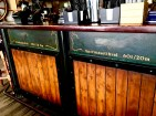 """Check out the bar paintings that depict various whale species once hunted for the oil rendered from their blubber. Yep, """"hval"""" is Norwegian for """"whale."""""""
