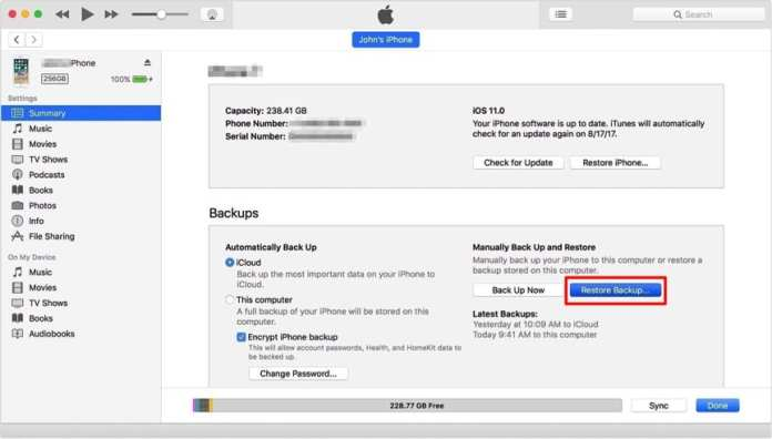 How To Restore Your iPhone From An iTunes Backup