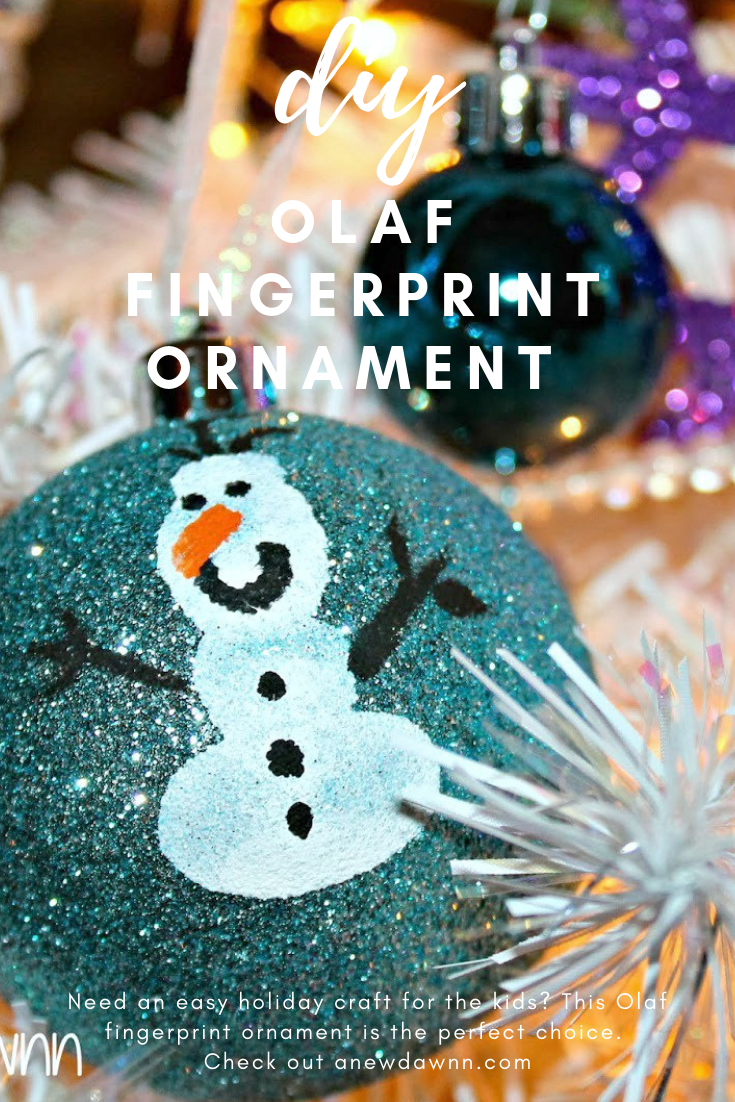 DIY Olaf Fingerprinte Ornaments