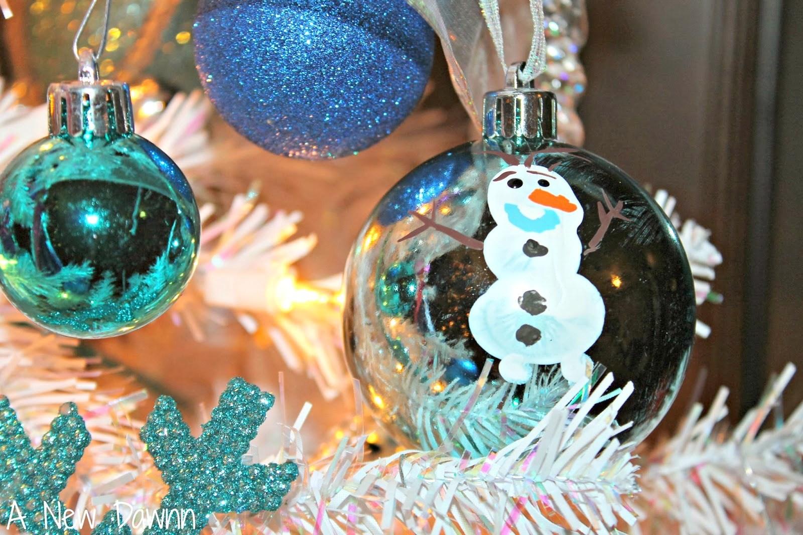 DIY Olaf Fingerprinte Ornaments