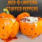 Halloween Dinner Idea – Jack-O-Lantern Stuffed Peppers
