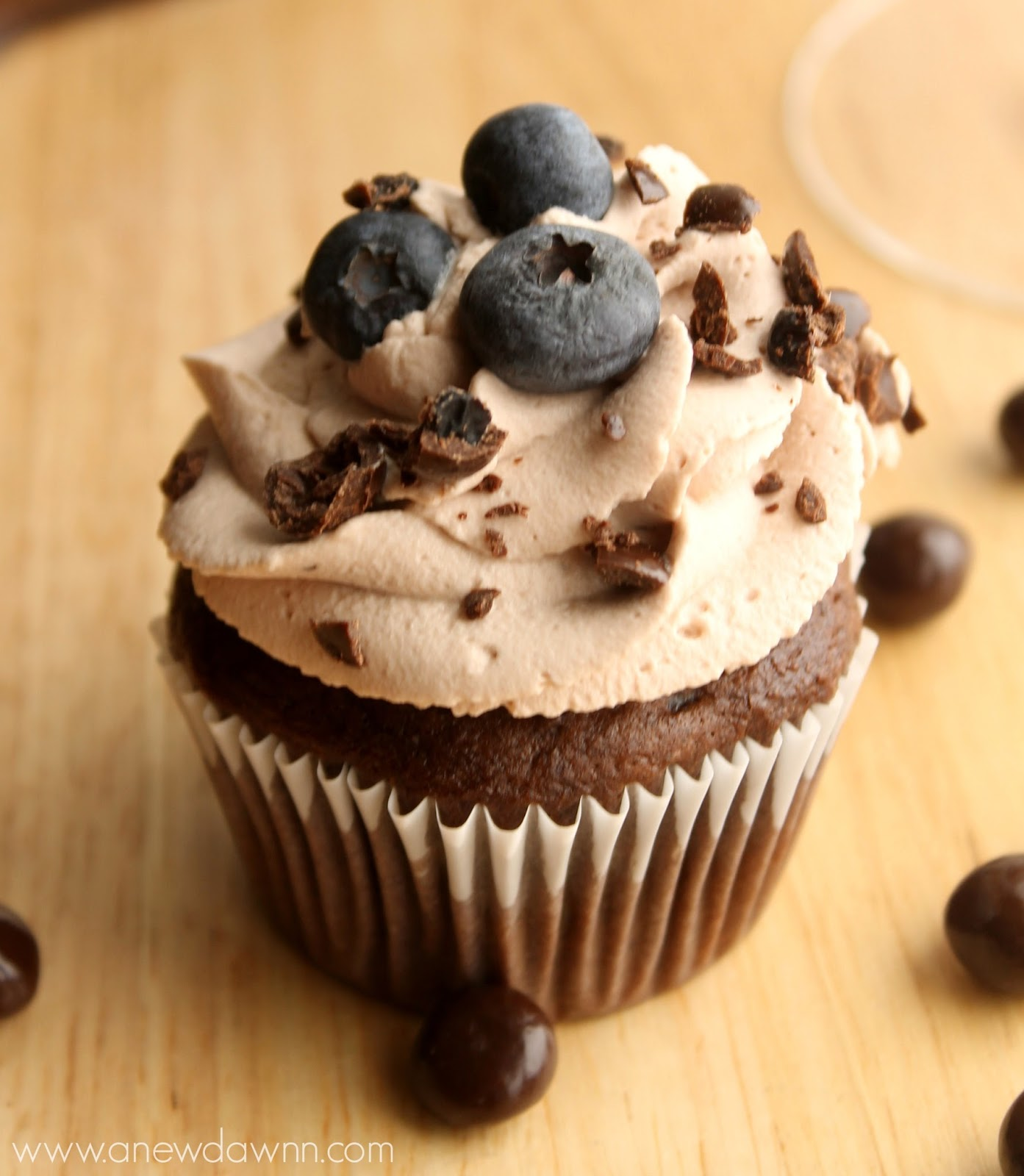 Blueberry Chocolate Chunk Cupcake Recipe
