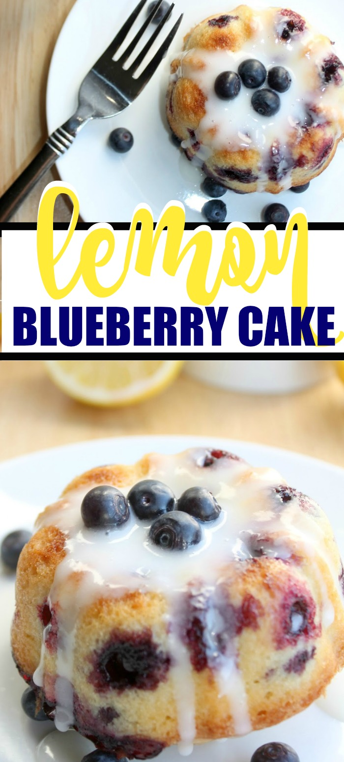 Think spring with this delicious Lemon Blueberry Cake recipe