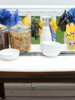 minion cereal party table