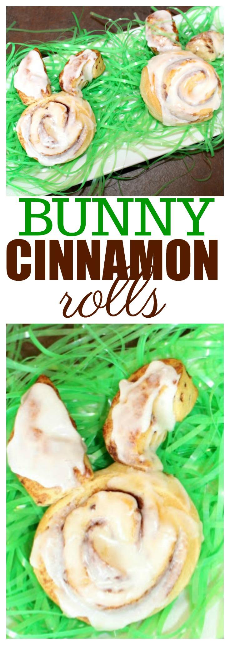 Bunny Shaped Cinnamon Rolls