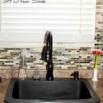 Mini Kitchen Makeover Part 2 – My New Black Granite Sink