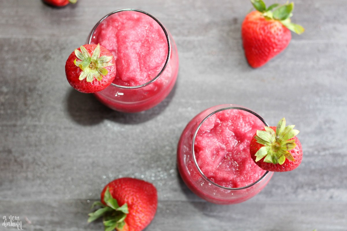 Refreshing Strawberry Wine Slushie