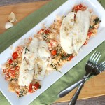 Easy & Delicious Seafood Dinner for Two – Tilapia with Spinach and Tomatoes