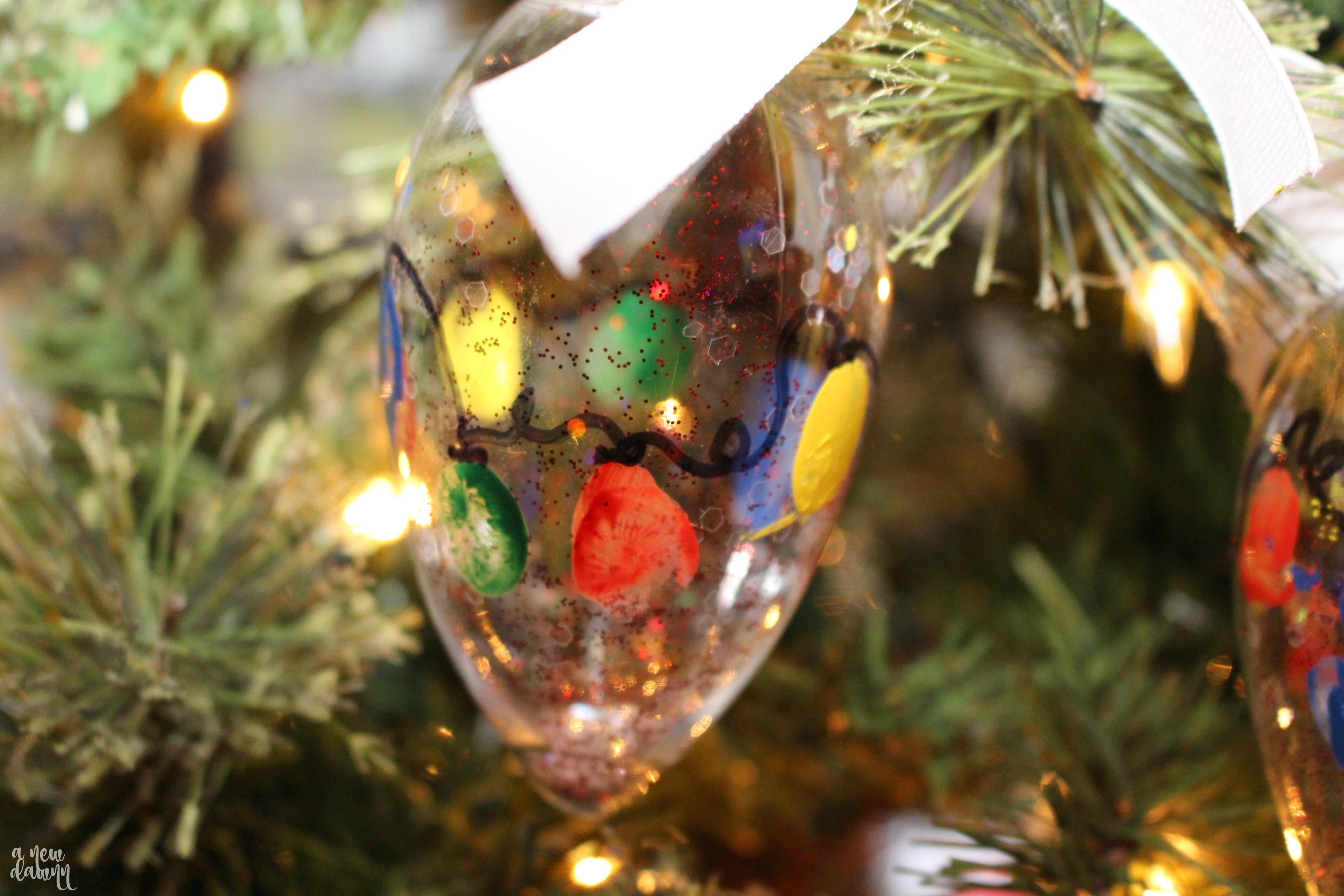 Holiday Light Fingerprint Ornament