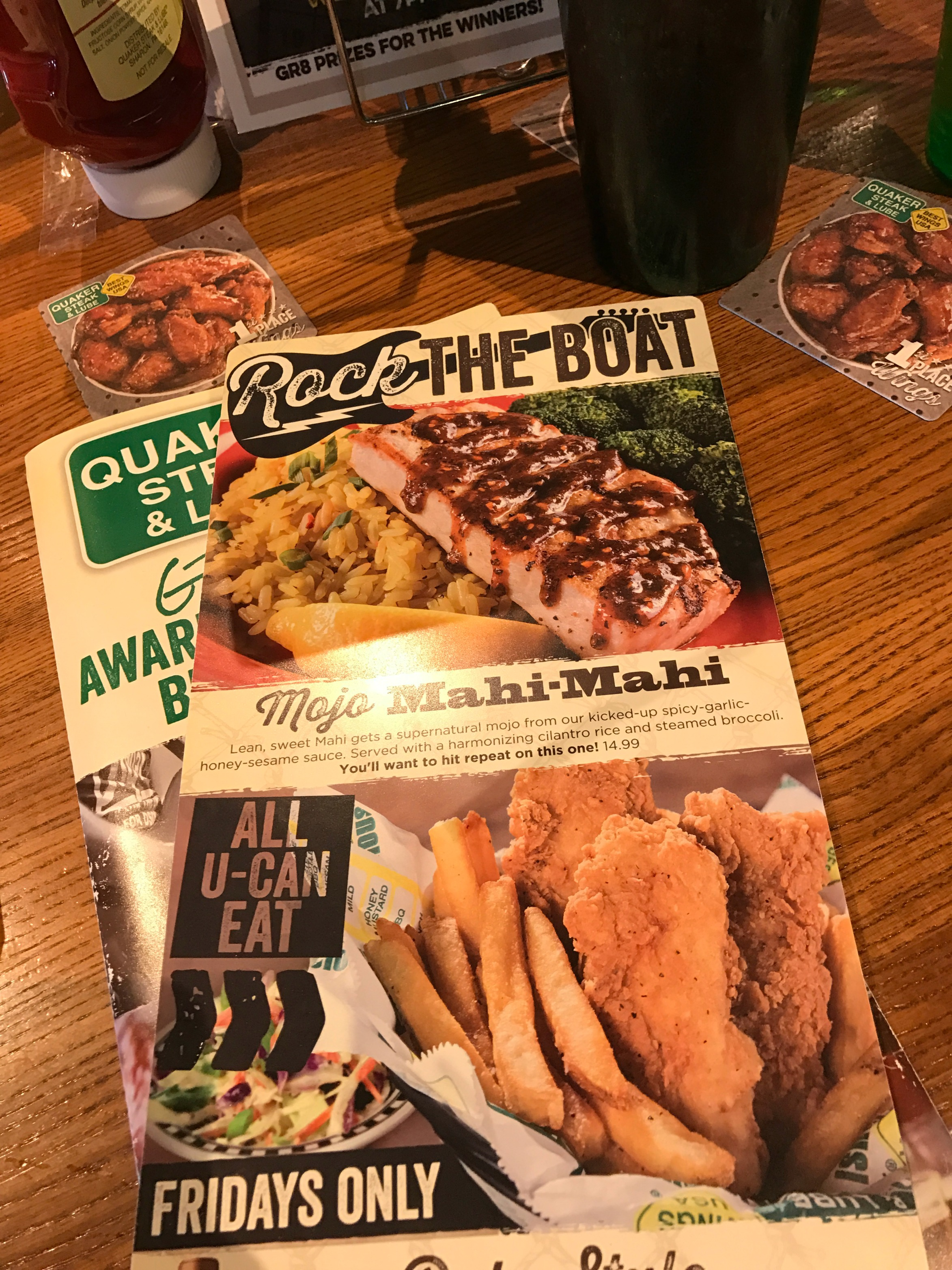 Quaker Steak and Lube #BluesandRockMenu