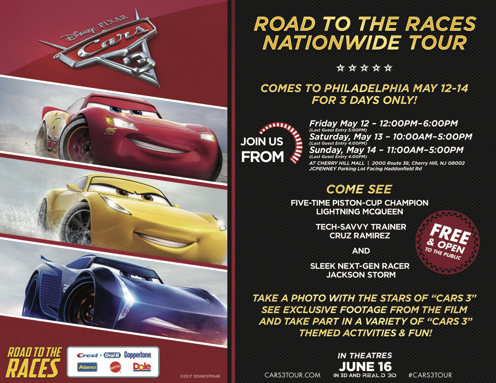 "CARS 3 ""Road to the Races"" Nationwide Tour"