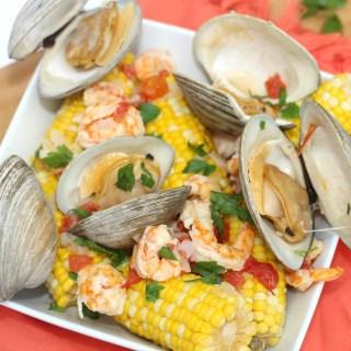 Corn and Seafood Clambake