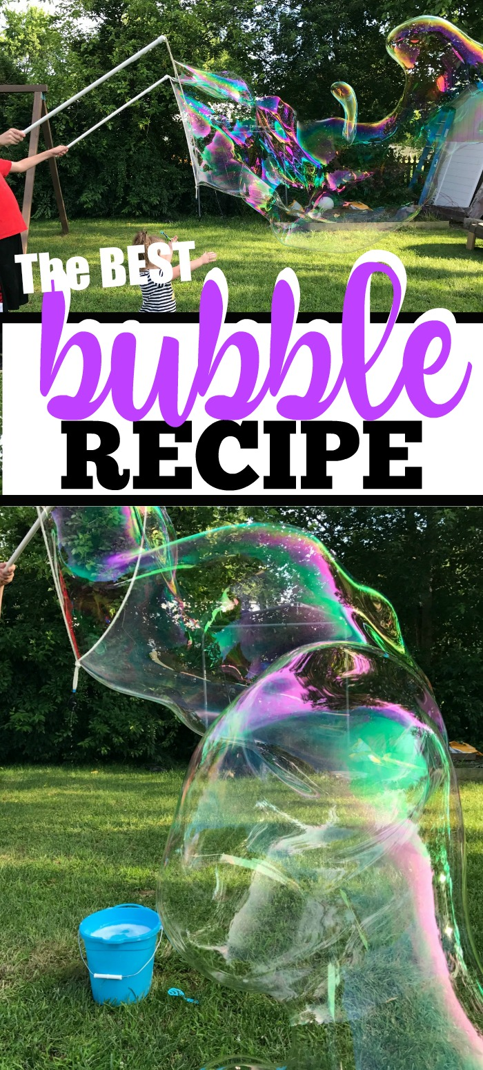 Make the best and biggest bubbles with this easy homemade bubble recipe