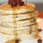 Switch Up Your Breakfast Routine with These Crunchy Oatmeal Cranberry Pancakes