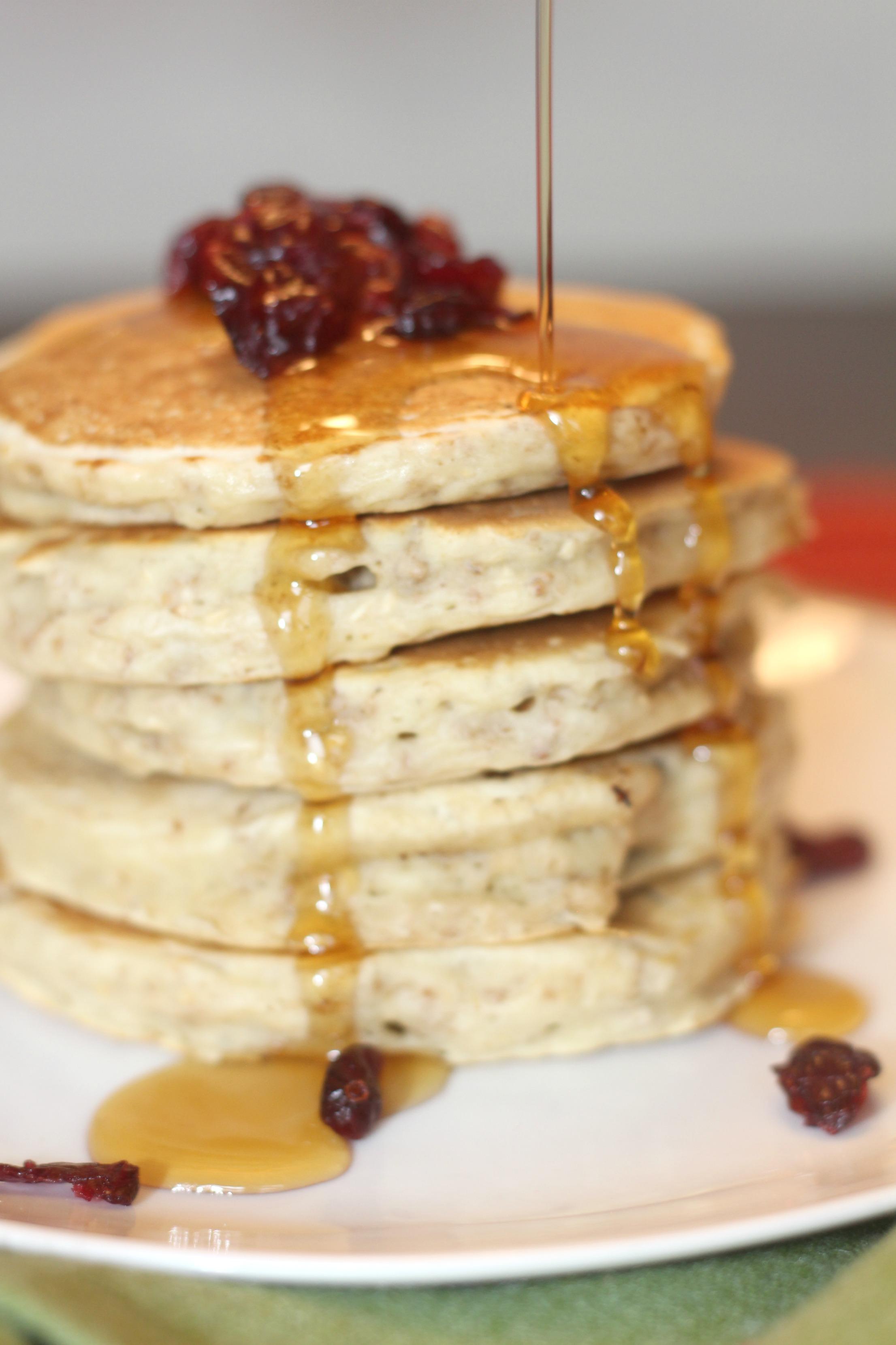 Crunchy Oatmeal Cranberry Pancake