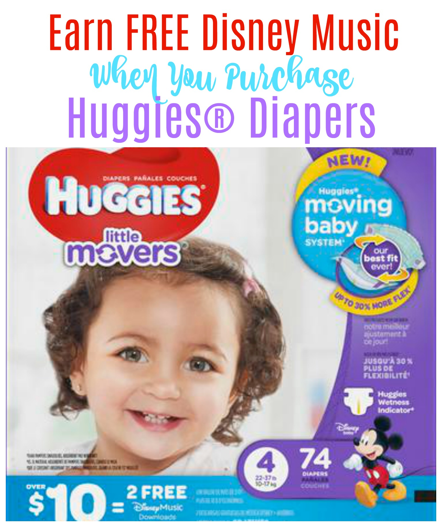 Earn FREE Disney Music When You Purchase Huggies® Diapers
