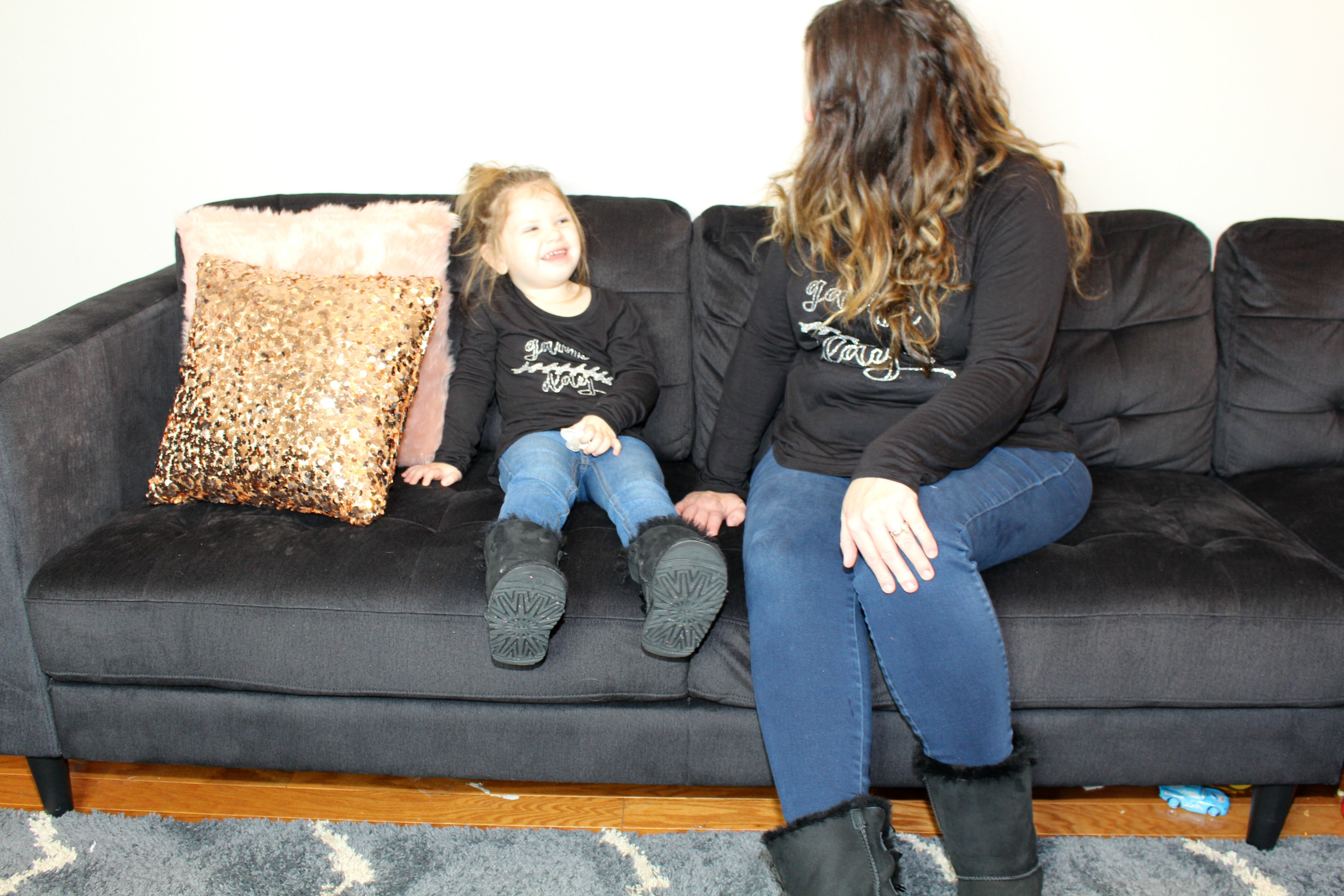 DIY Game Day Mommy & Me Shirts