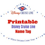 Disney Cruise Line Printable Name Tag