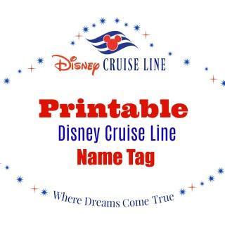Disney Cruise Line Printable Name Tag