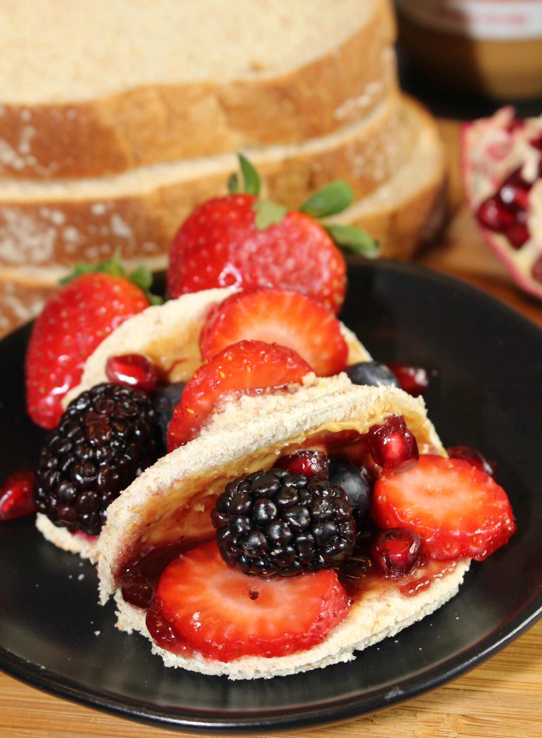 Peanut Butter and Jelly Taco Sandwiches