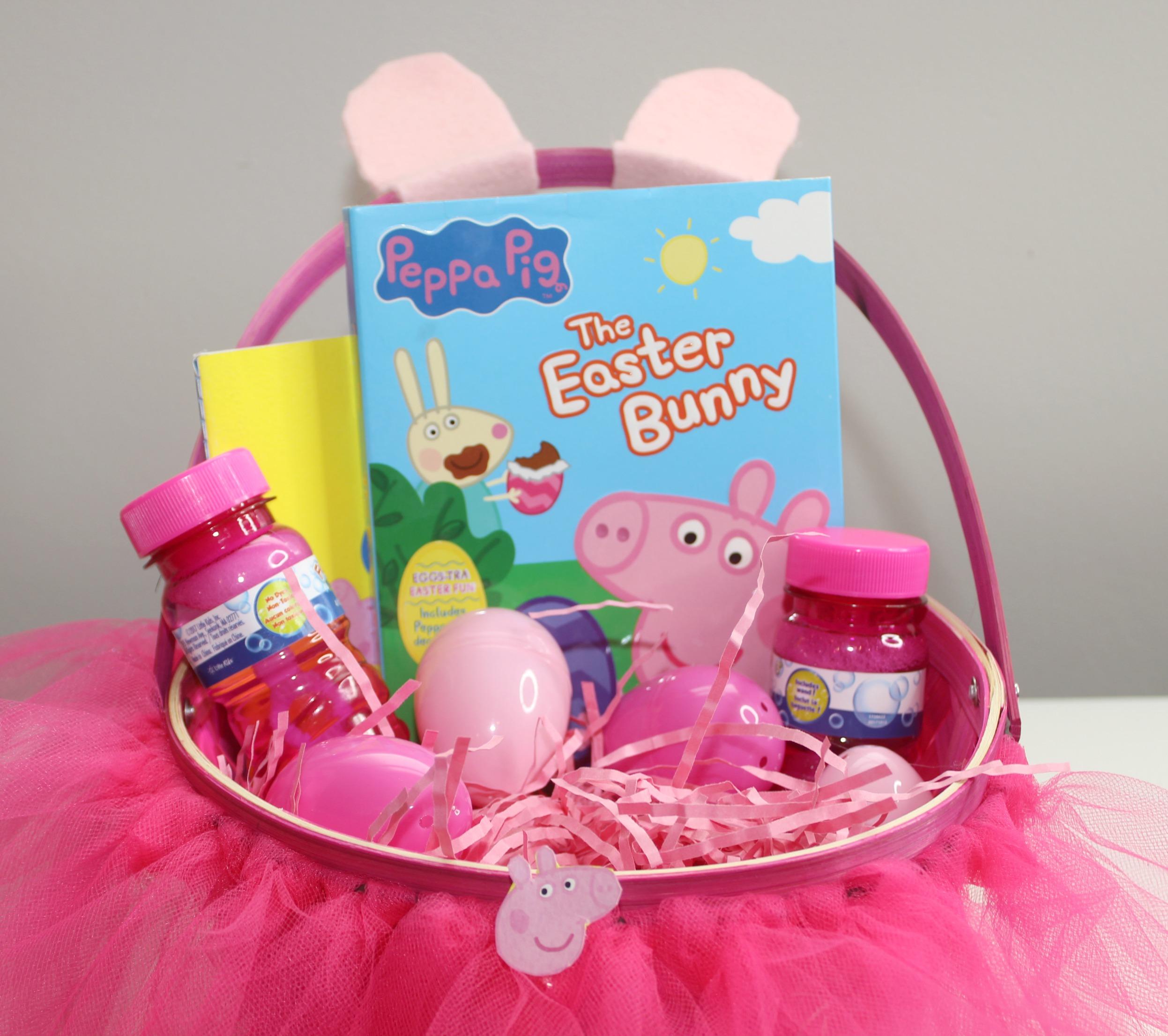 DIY Peppa Pig Easter Basket