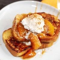 Caramelized Peach French Toast Recipe
