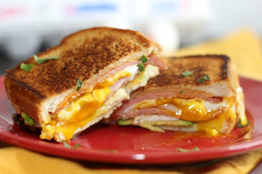 Pork Roll Egg & Avocado Grilled Cheese
