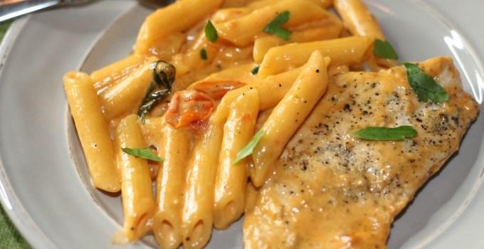 Creamy Tuscan Garlic Chicken Pasta