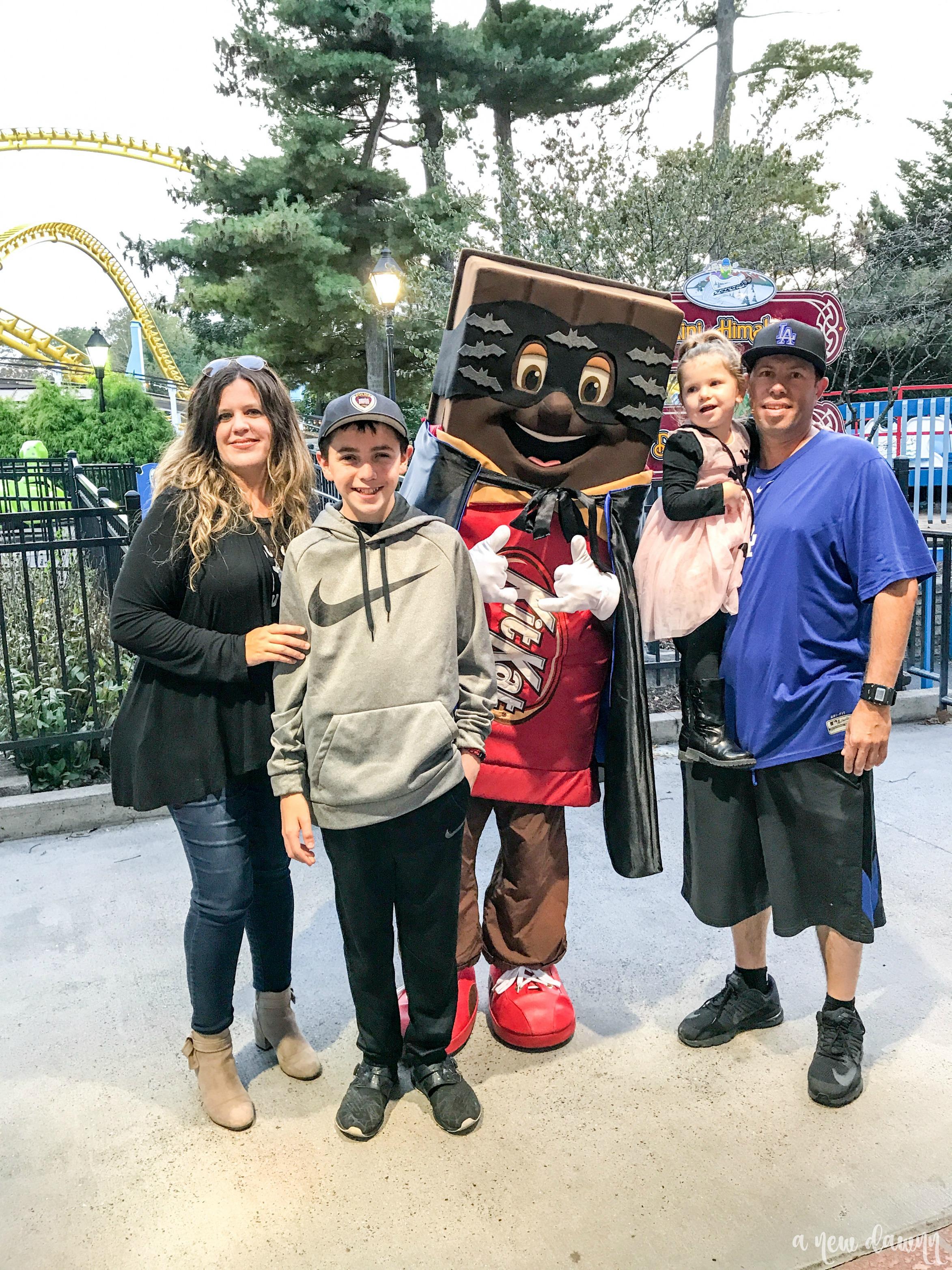Family visiting Hersheypark
