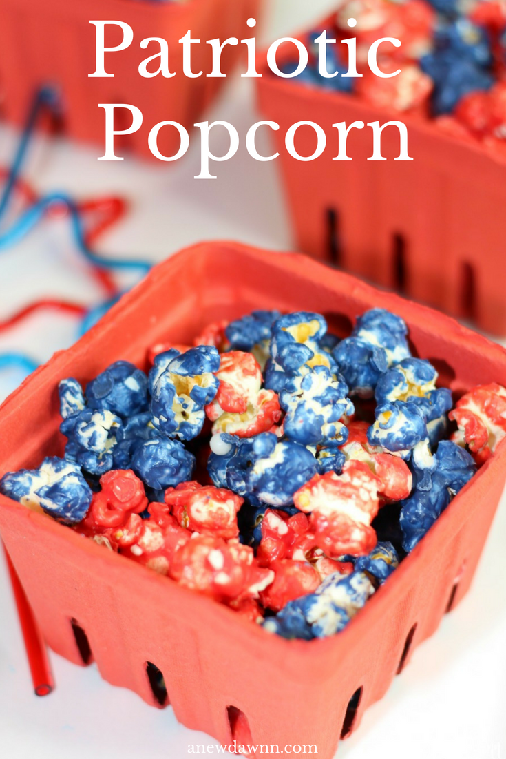 Red White and blue popcorn