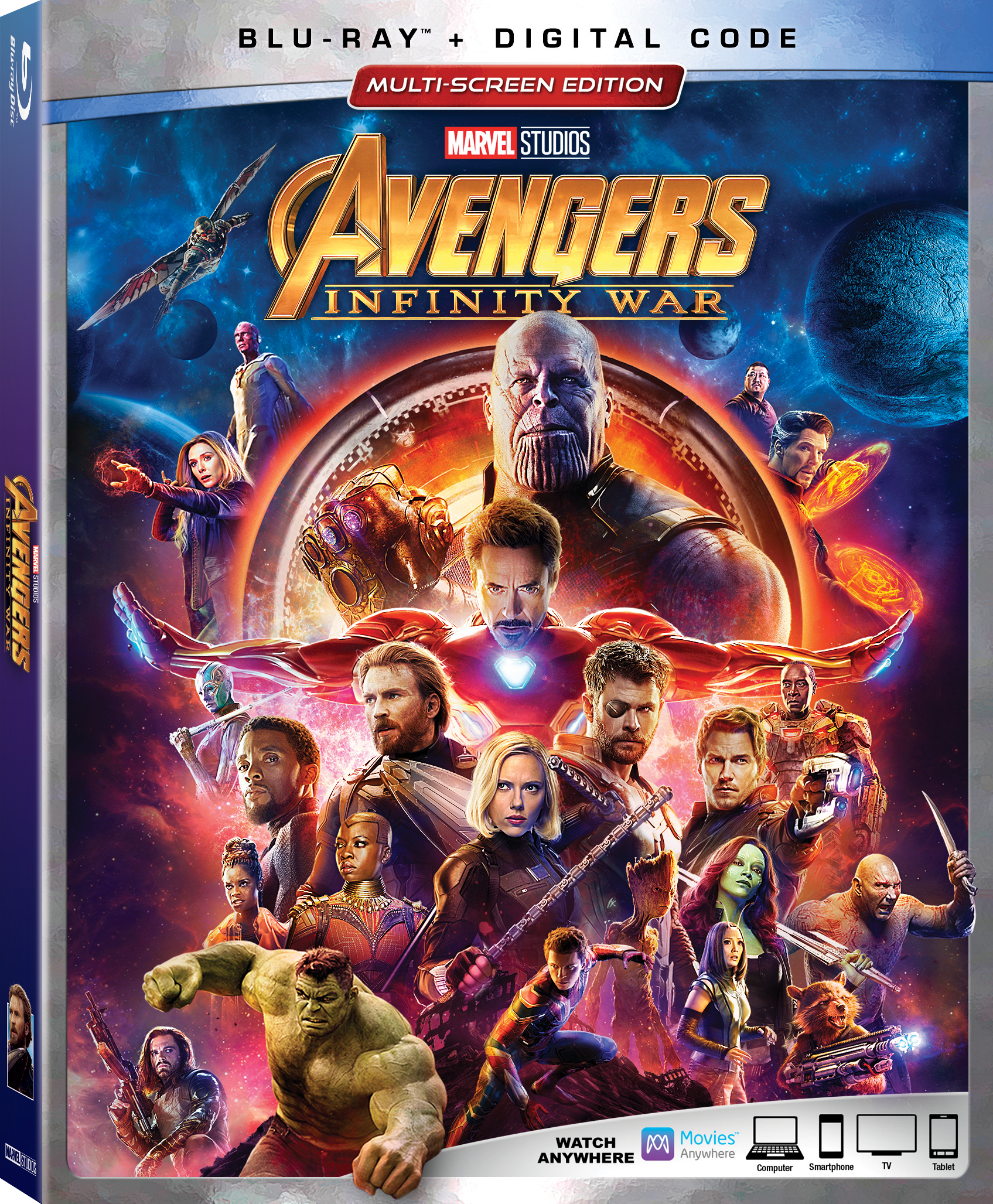 Avengers Infinity War Blu-ray Box Art