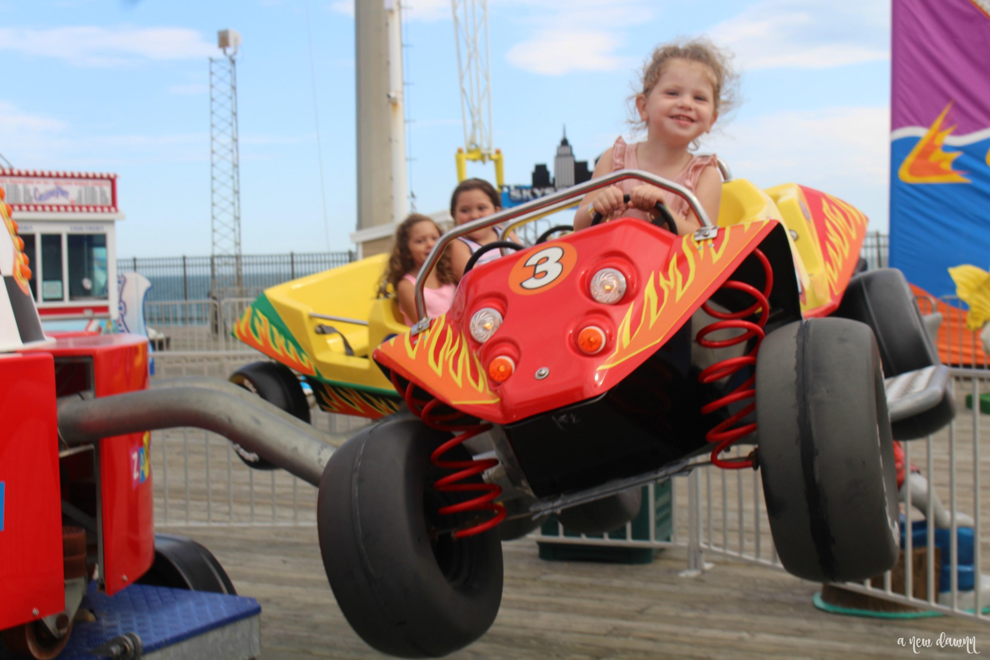 Kiddie rides at Casino Pier