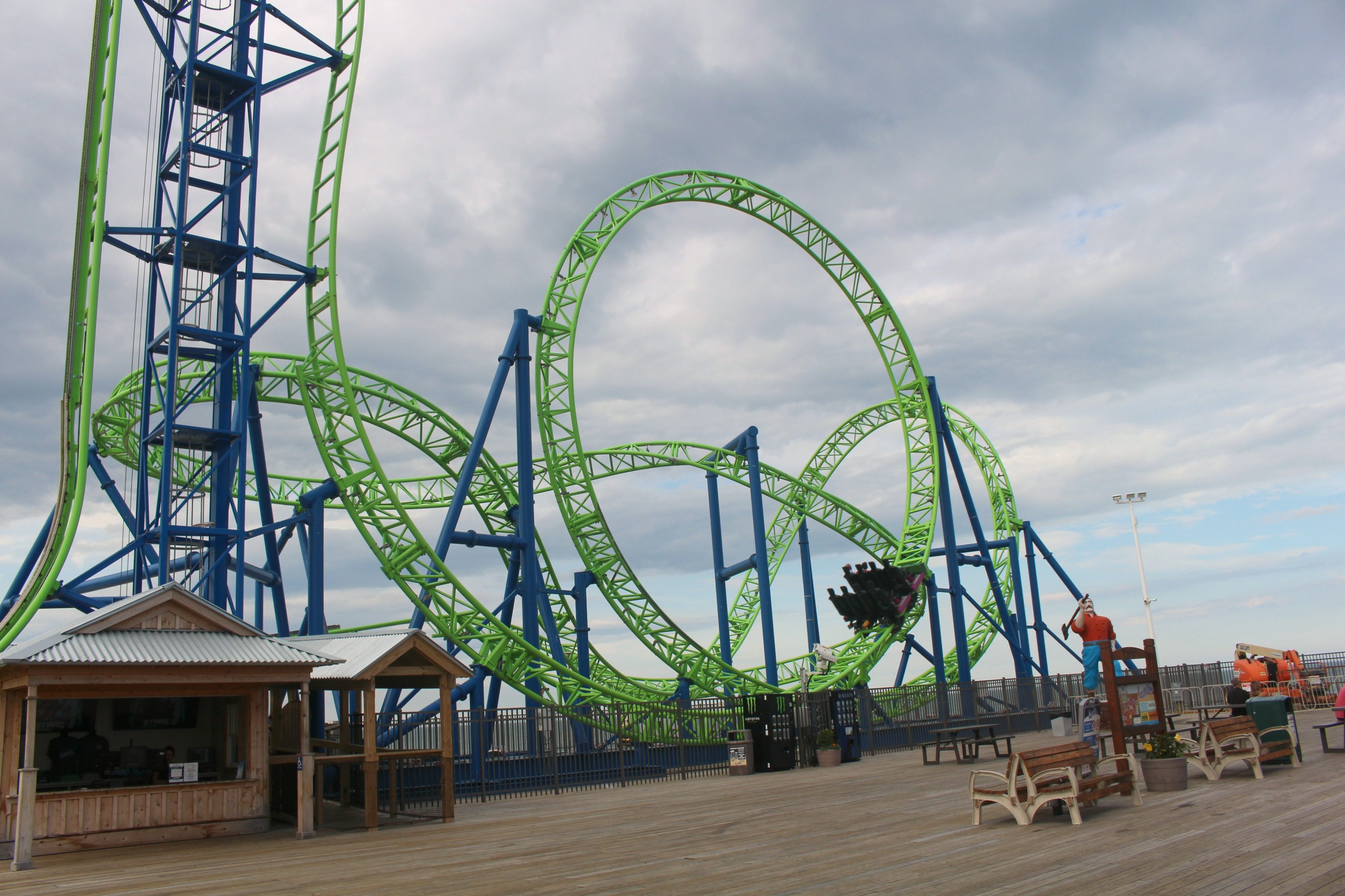 Hydrus Roller Coaster at Casino Pier