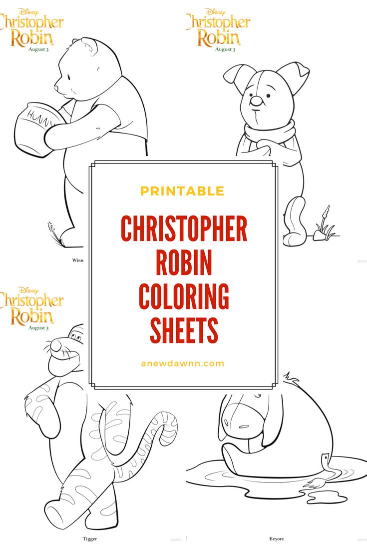 printable Christopher Robin coloring sheets