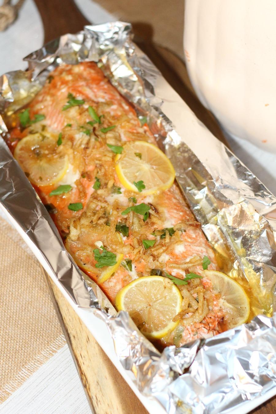 A Christopher Robin Friendsgiving - Honey Glazed Salmon Recipe
