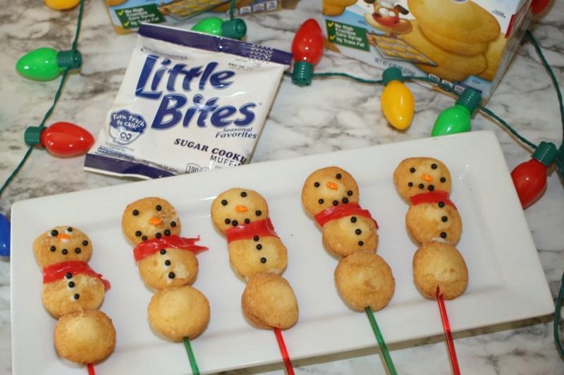 Easy Snowman Desserts with Entenmann's® Little Bites®