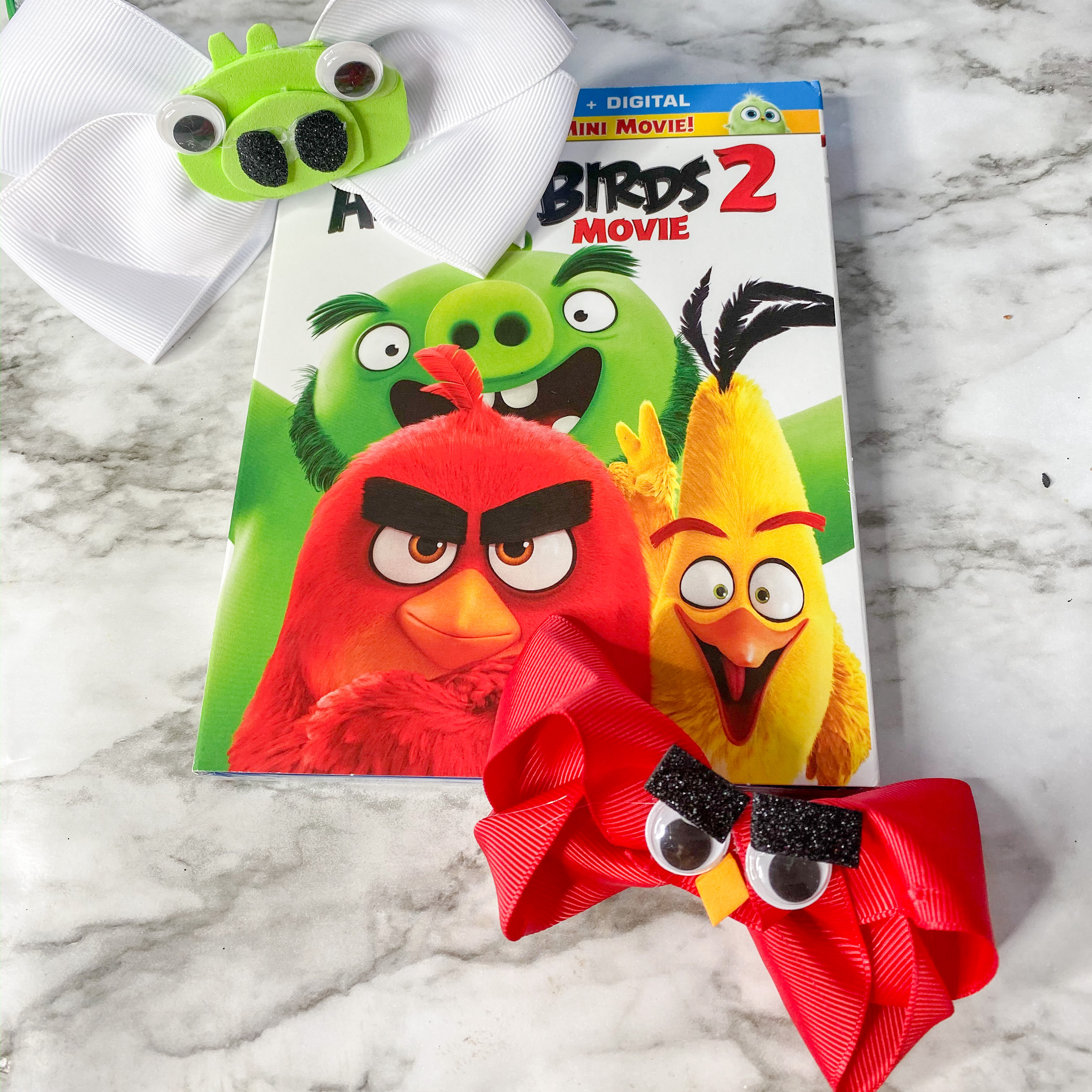 Angry Birds Hair Clips with Blu-ray disc