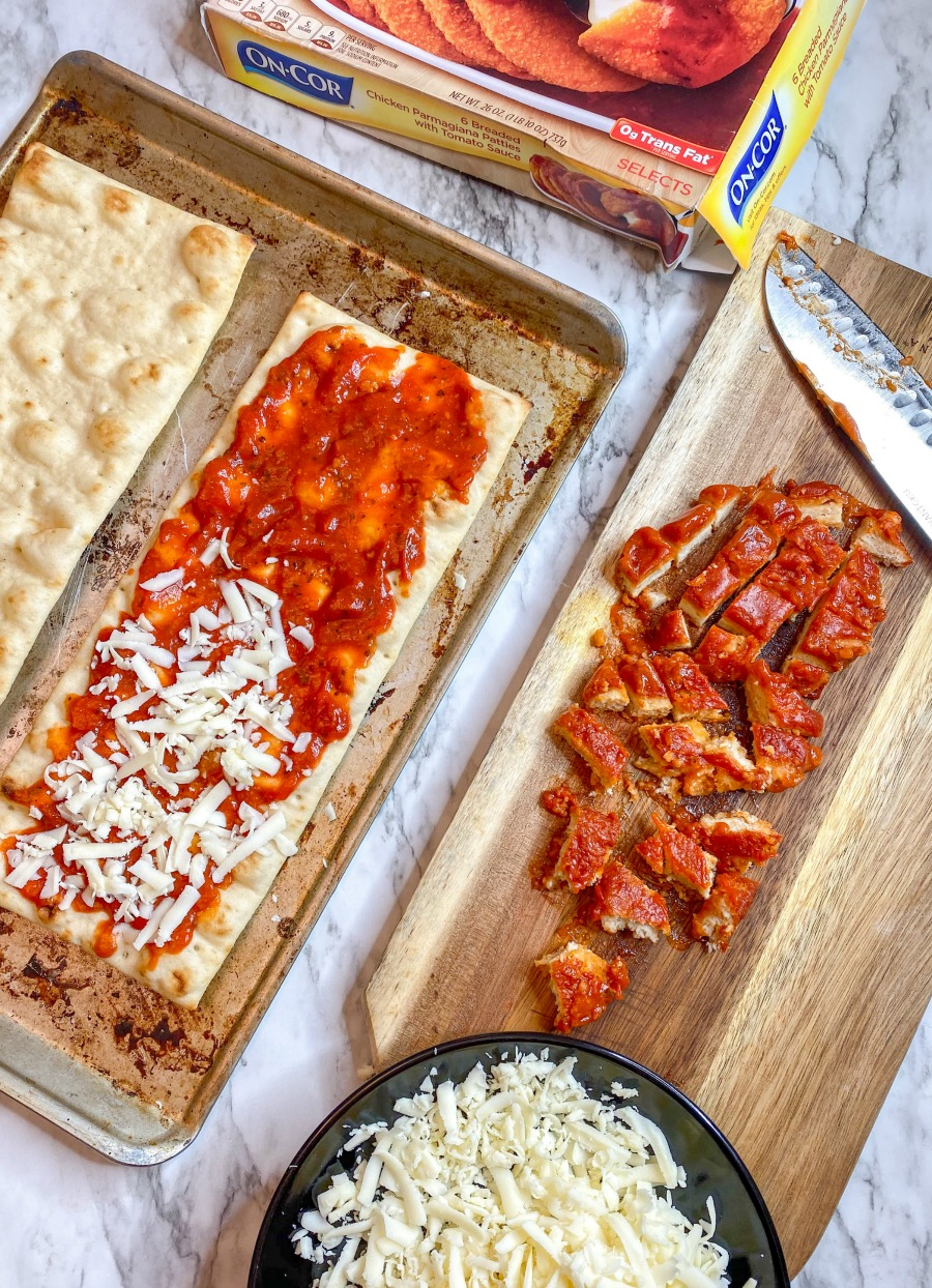 Flatbread Pizzas on Pan