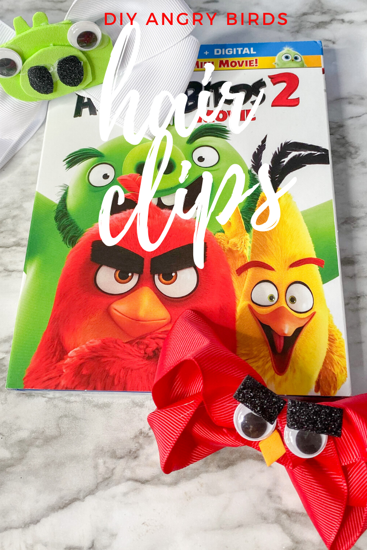 Angry Bird Blu-ray Disc and DIY hair clips