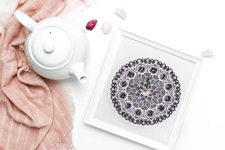 DIY 3D Layered Mandala Clock with Card Stock and Cricut